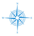 blue compass icon vector image
