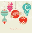 cute christmas balls vector image