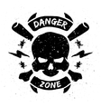Danger zone emblem in grunge style vector image