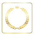 Gold laurel wreath crown golden vector image