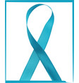 prostate cancer ribbon awareness disease symbol vector image