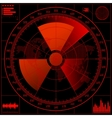 radar screen with radioactive sign vector image
