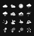 sixteen flat modern weather icons vector image