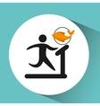 sport man walking machine nutrition health vector image