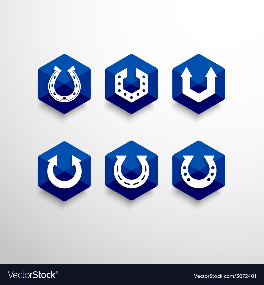 Abstract horseshoe logo design template vector