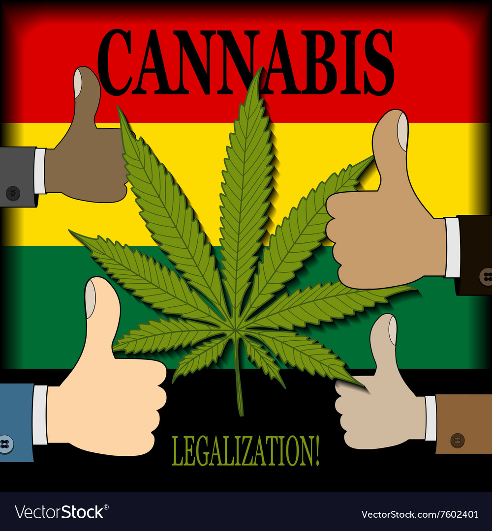 Supporting the legalization of cannabis vector