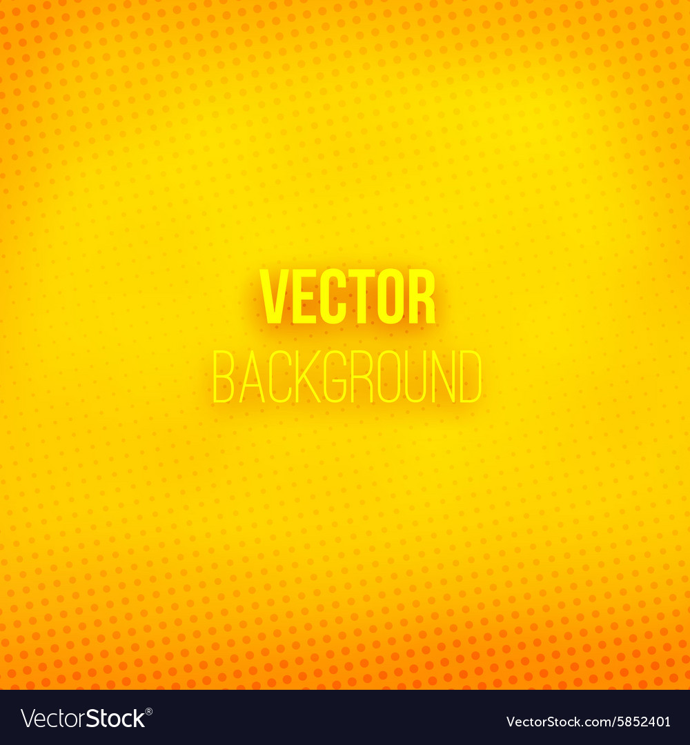 Yellow blurred background with halftone effect vector