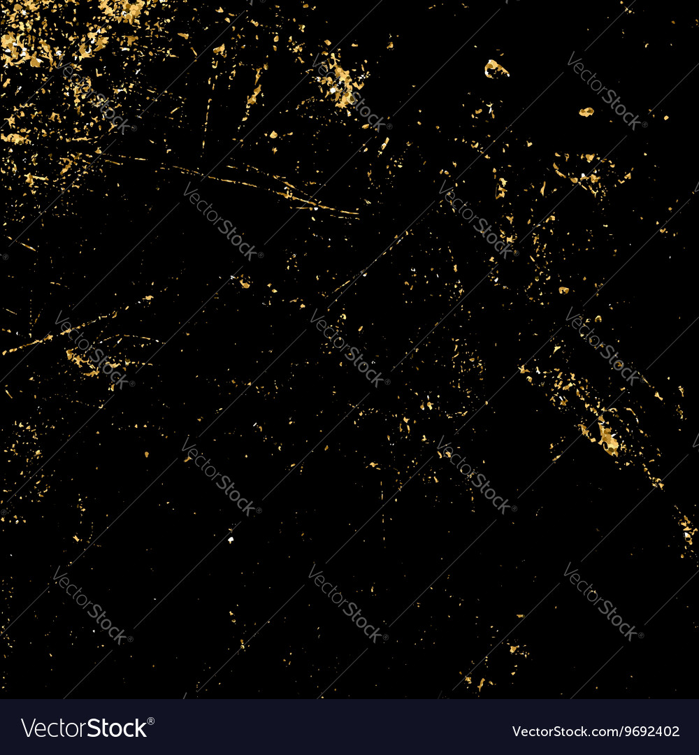Light grunge gold black vector