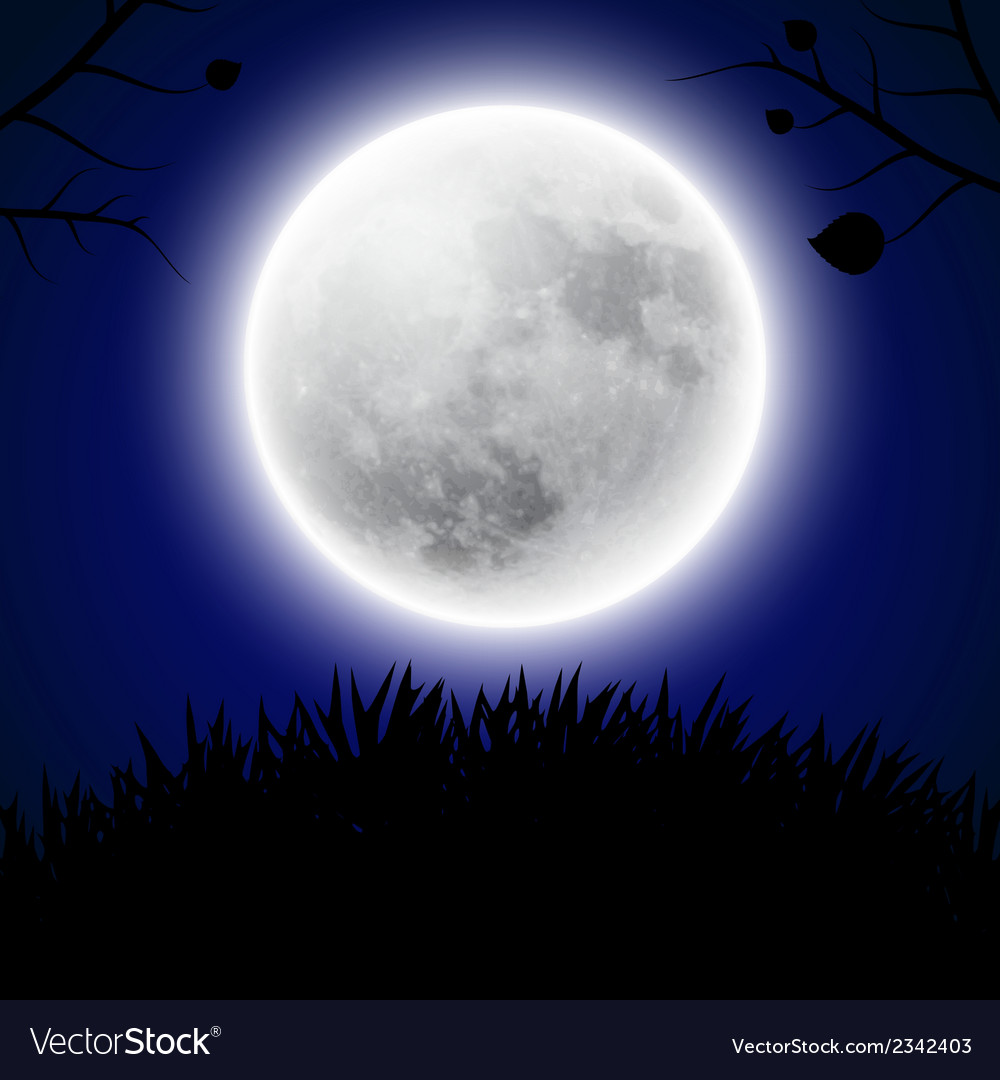 Background with moon vector