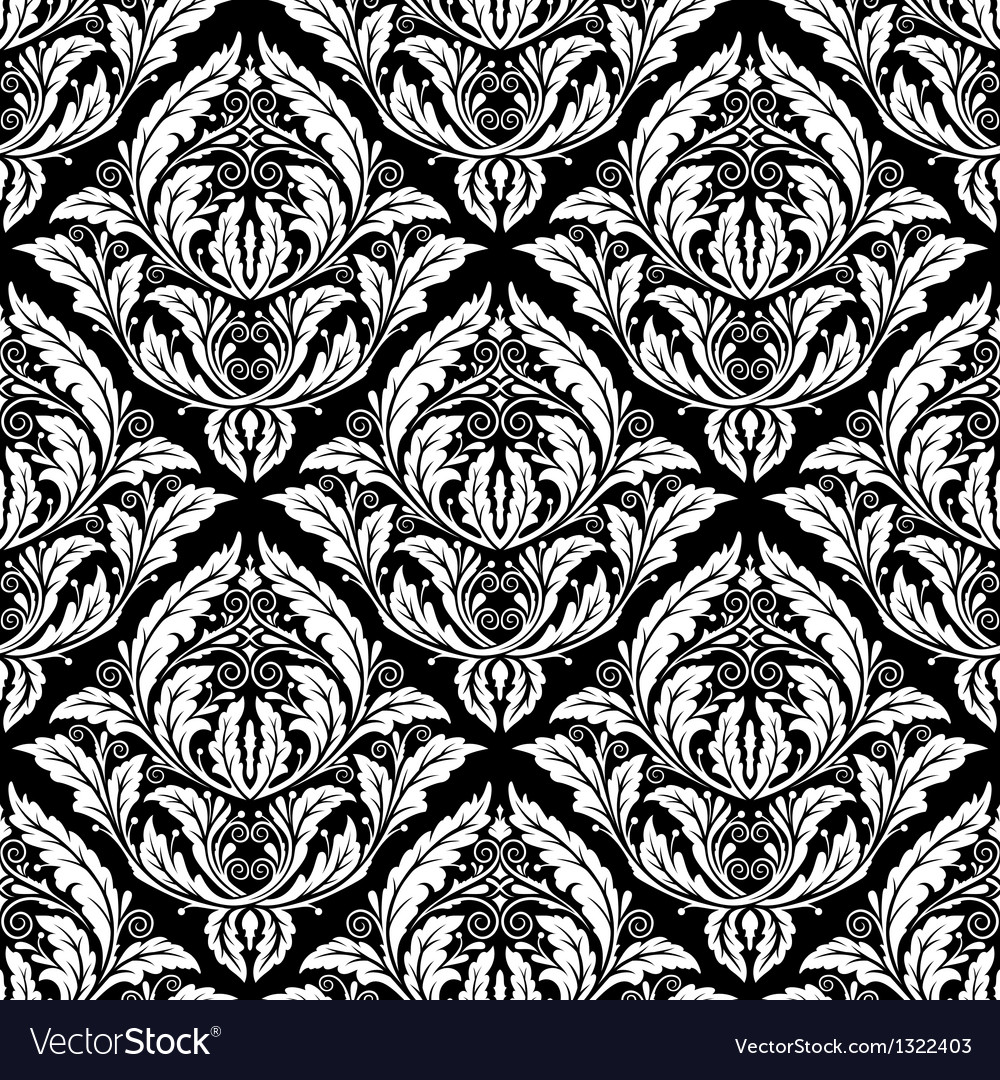 Damasc seamless pattern vector