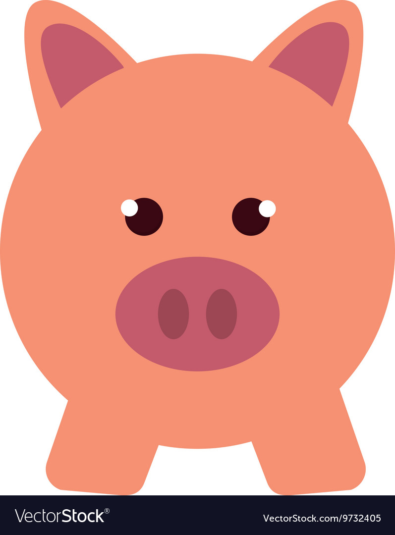 Piggy bank pig money save vector