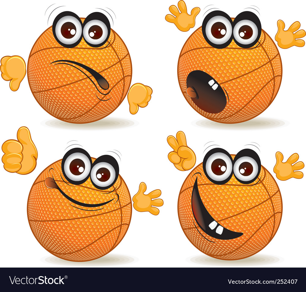 Cartoon basketballers vector