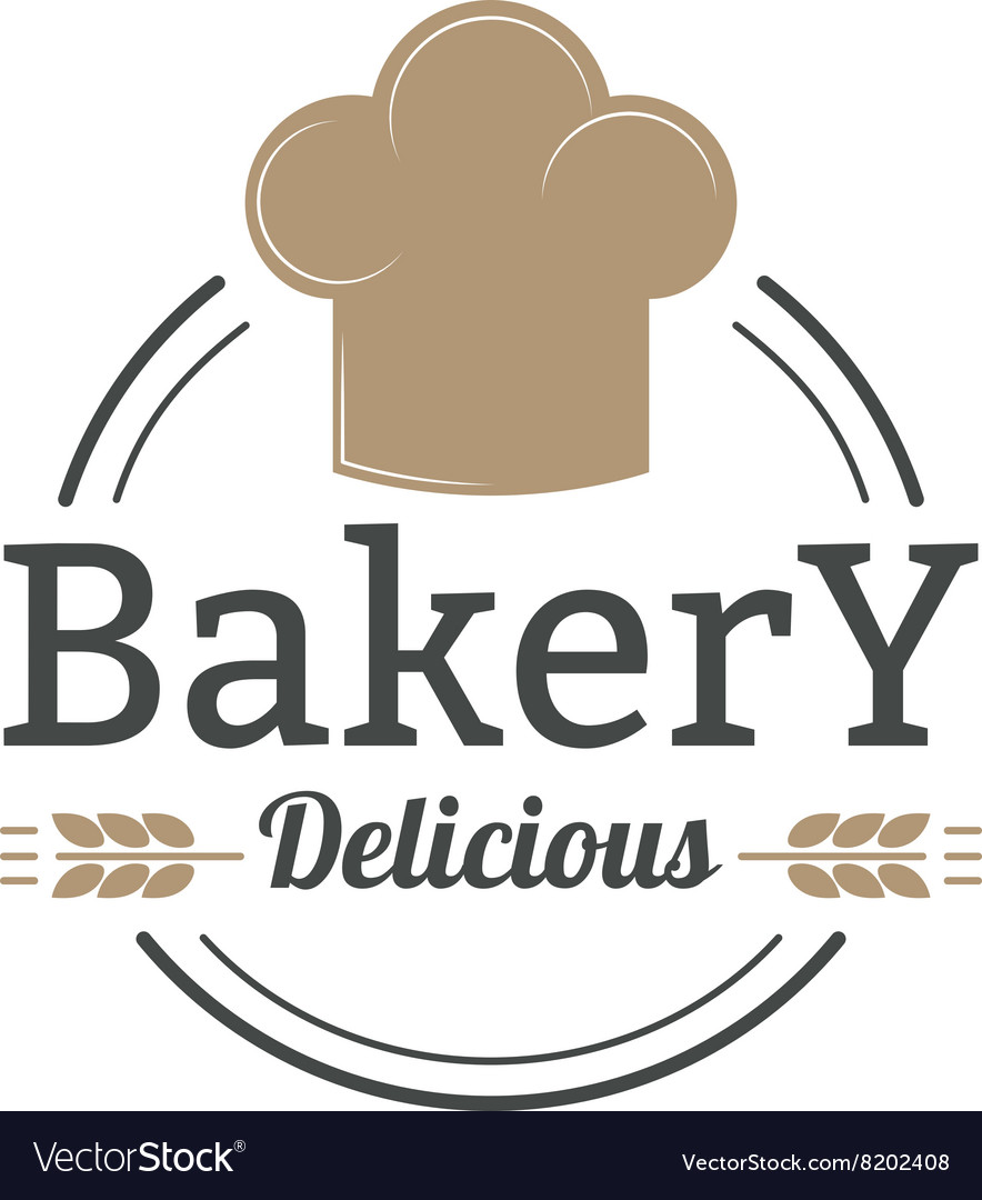 Bakery badge and bread logo badge icon modern vector