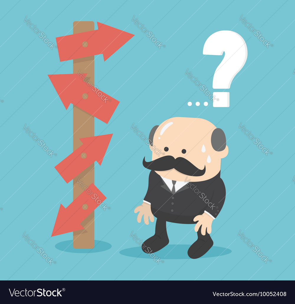 Business man choice concept vector