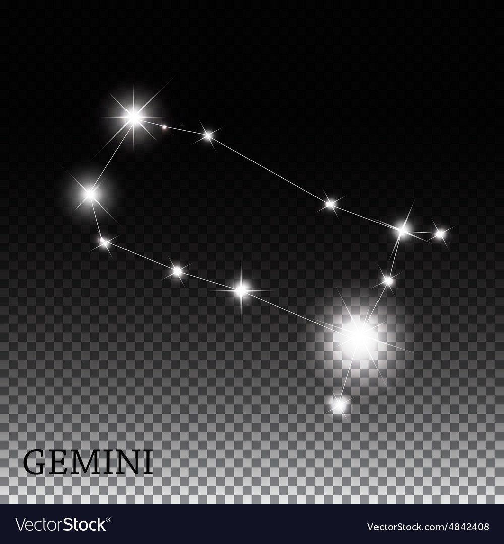 Gemini zodiac sign of the beautiful bright stars vector