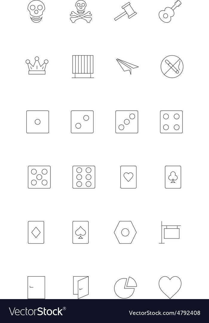 Line icons 14 vector