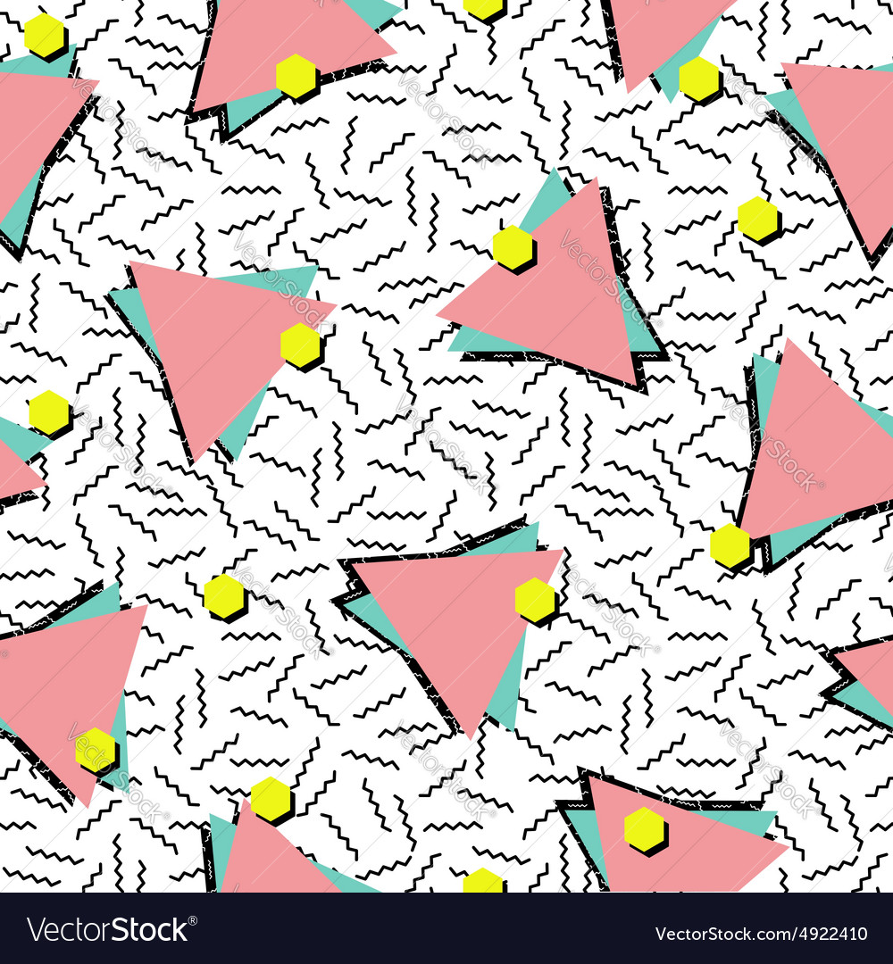 Retro 80s style seamless pattern background vector