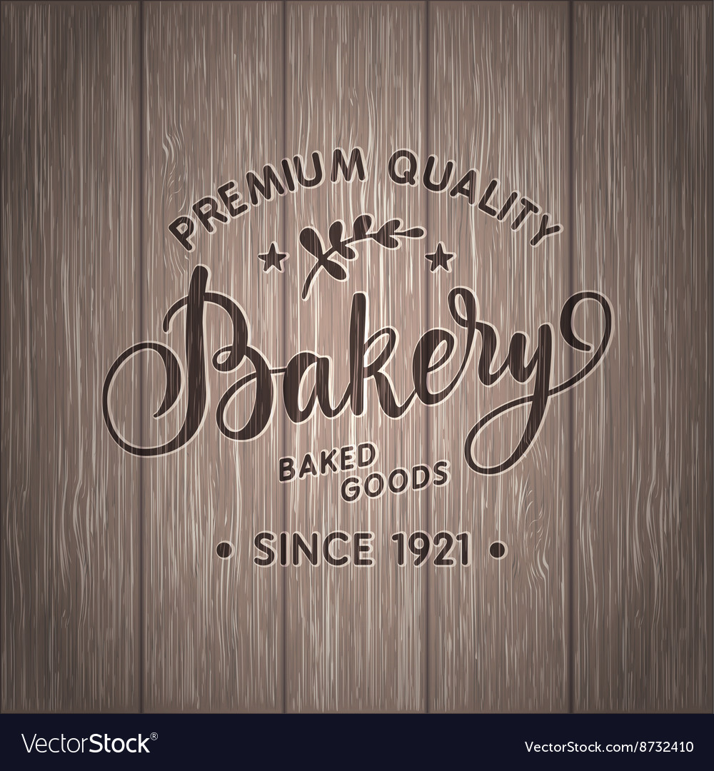 Vintage calligraphy bakery logo vector