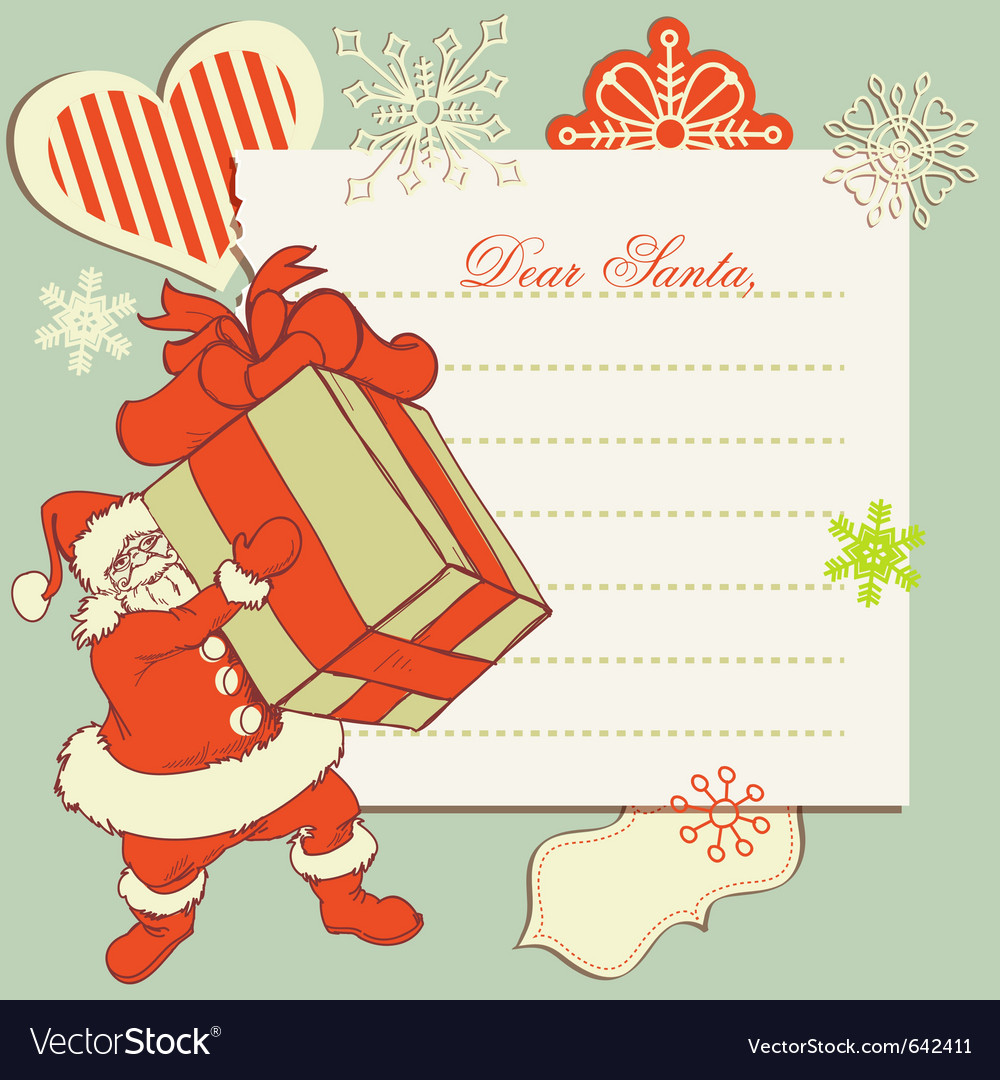 A letter to santa claus vector
