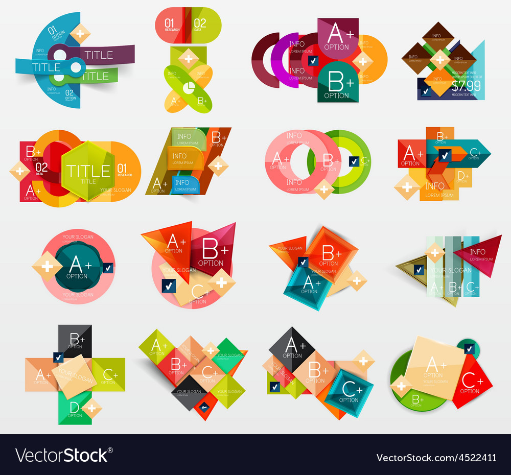 Collection of modern business infographic vector
