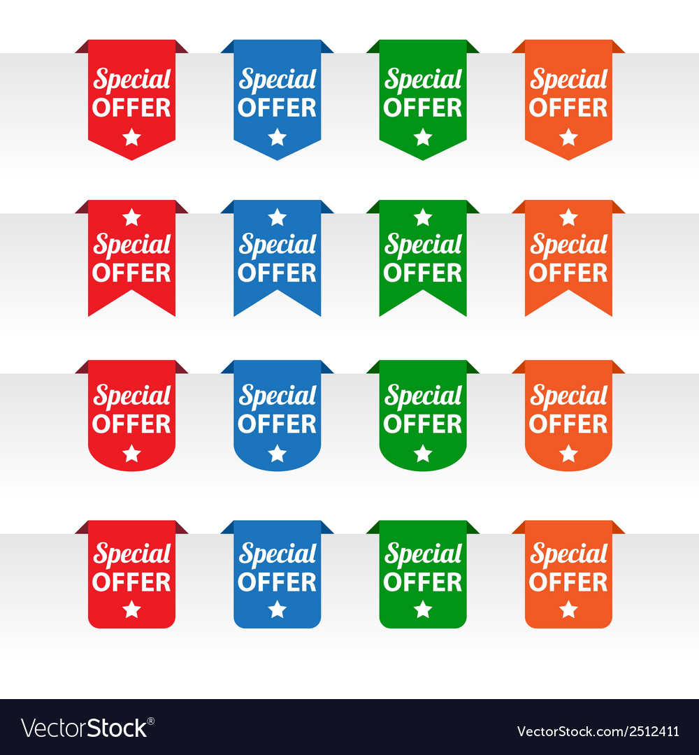 Special offer paper tag labels vector
