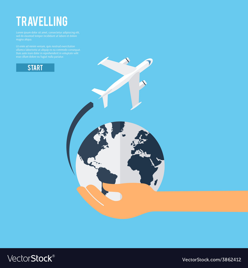 Global earth travel concept icon vector