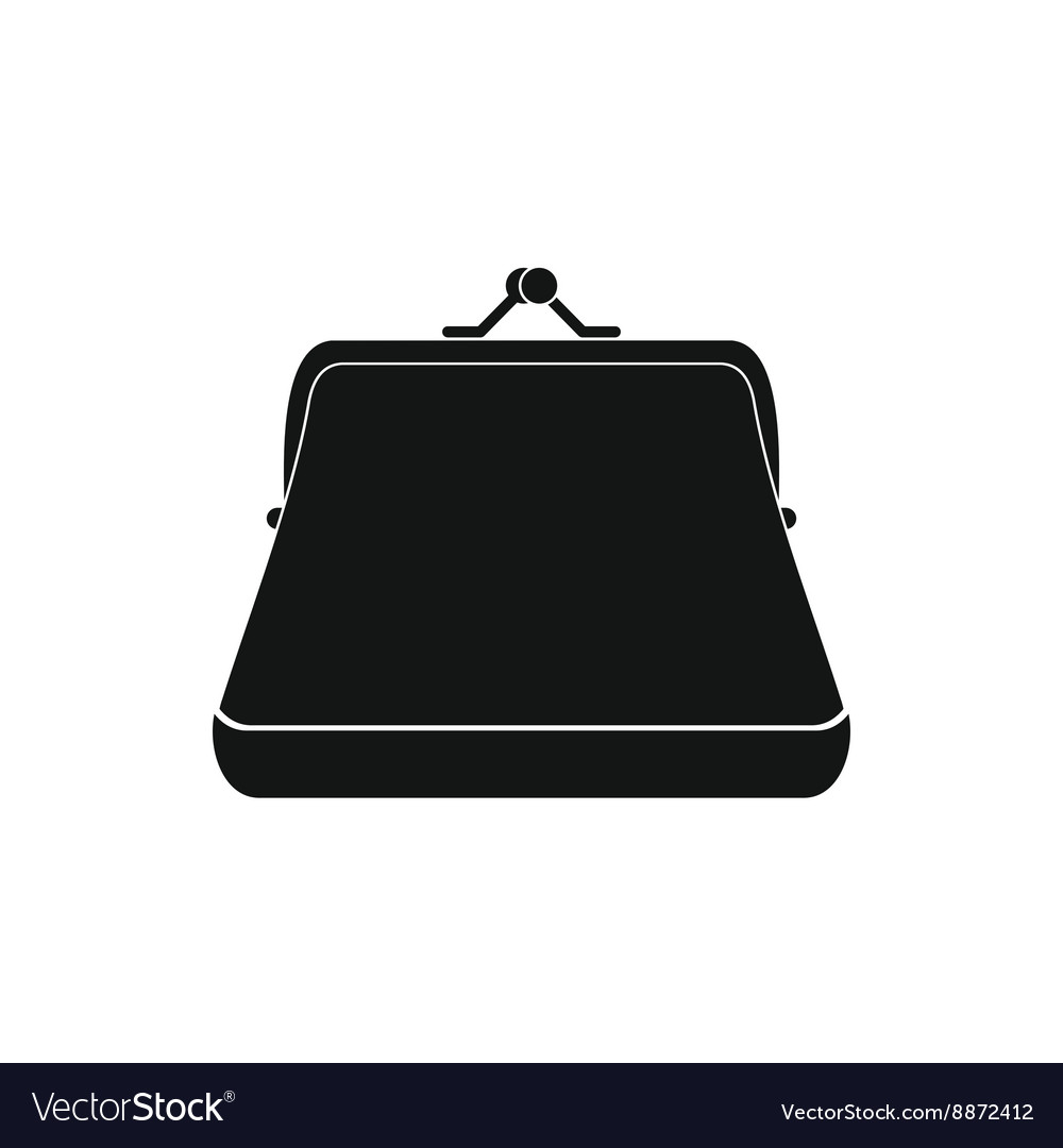 Retro purse icon simple style vector