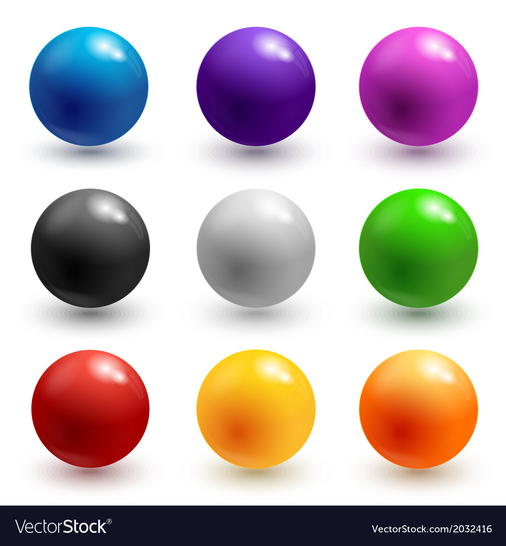Colorful glossy spheres vector