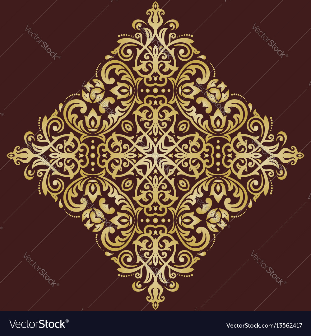 Elegant ornament in classic style vector