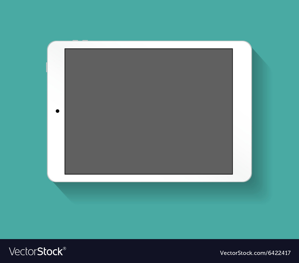 White tablet pc horizont vector