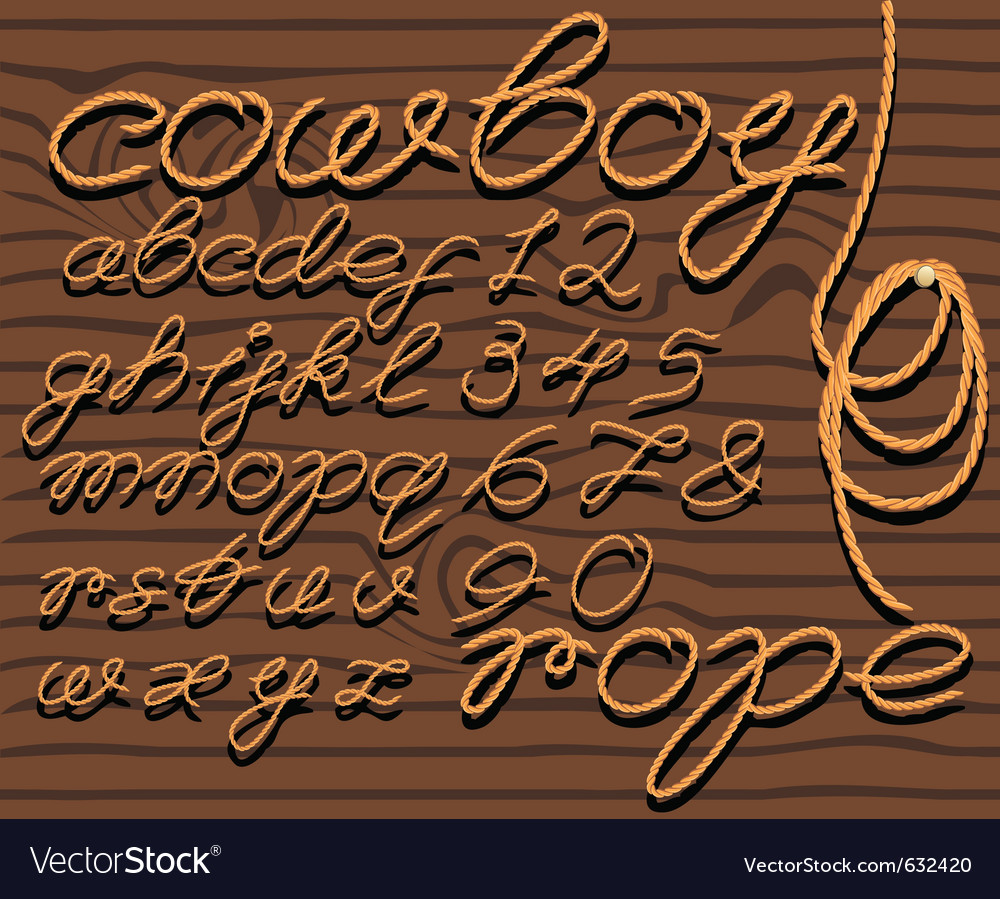 Font rope vector