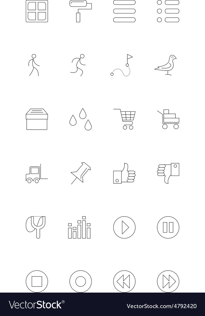 Line icons 19 vector