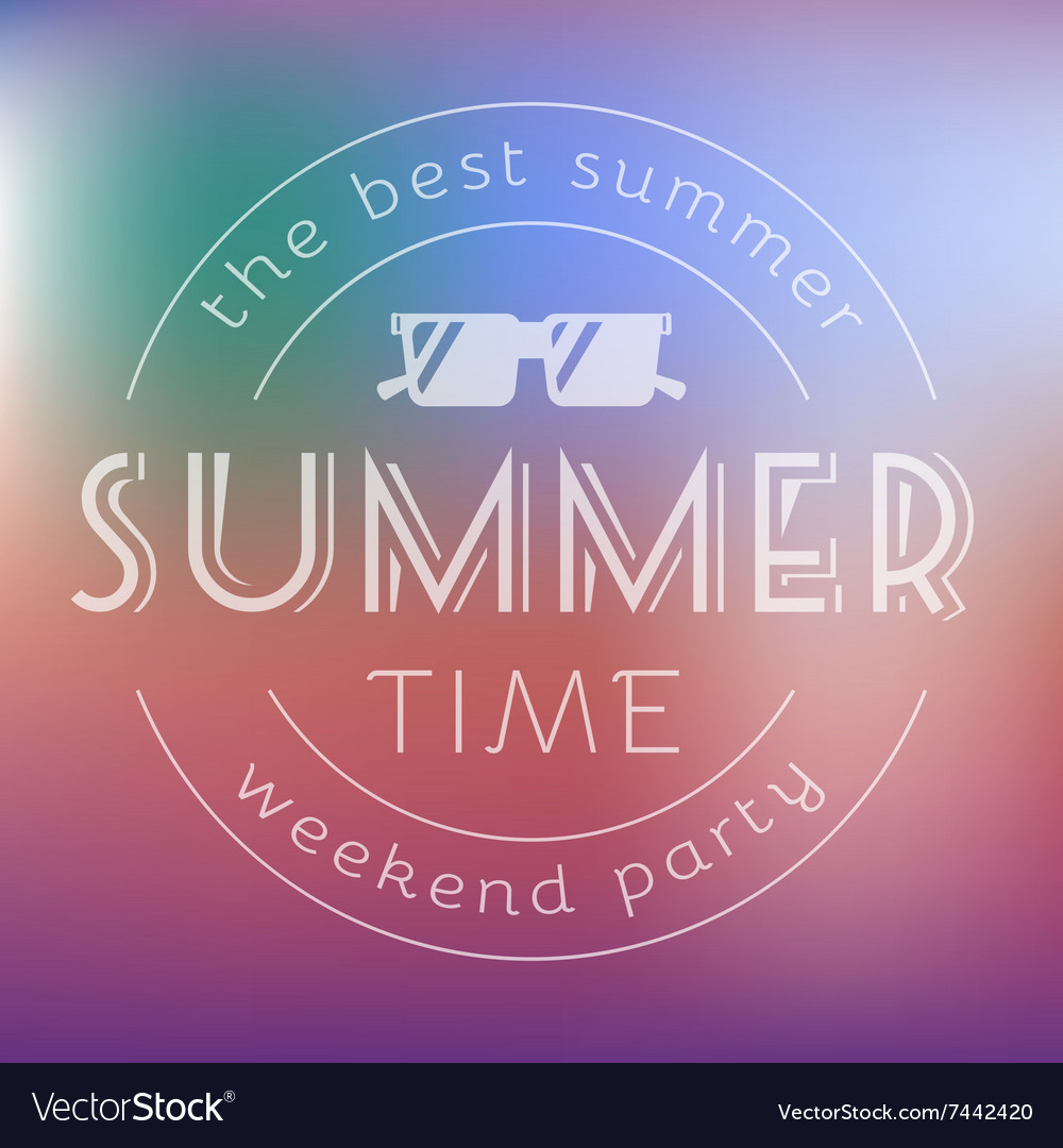 Summer time party text card vector
