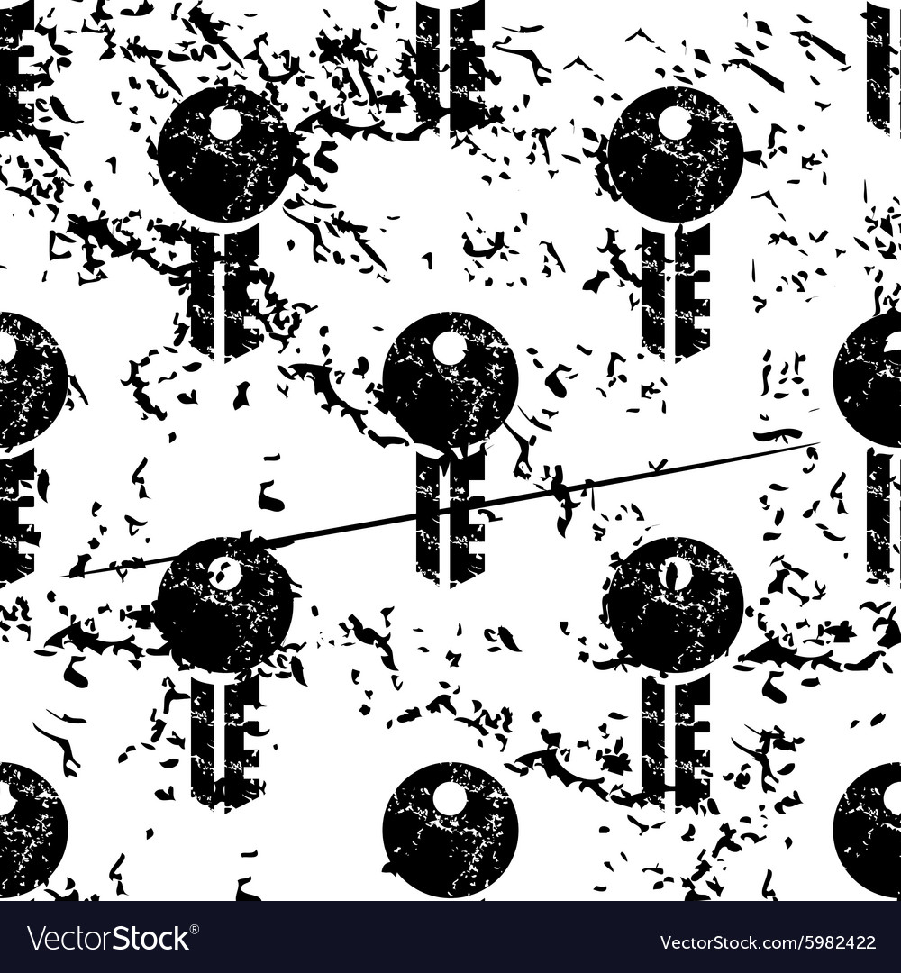 Key pattern grunge monochrome vector