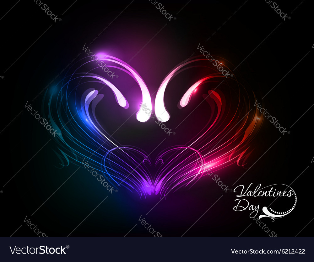 Valentines day heart design vector