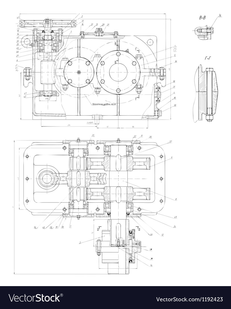 Hitech engineering drawing vector
