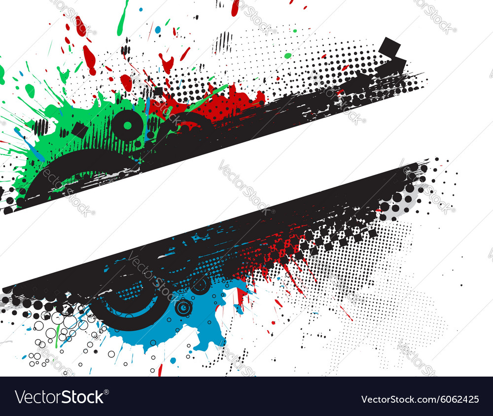 Grunge stylish banners vector