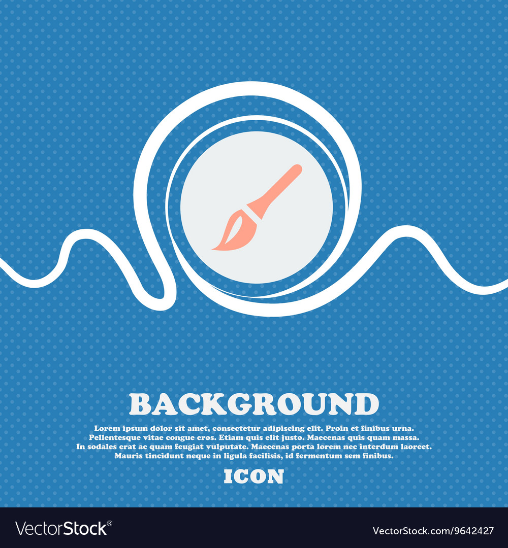 Paint brush artist sign icon blue and white vector