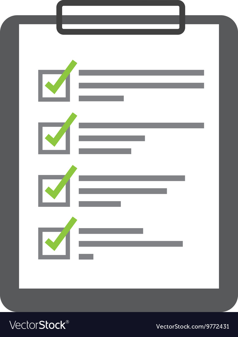 Checklist isolated icon design vector