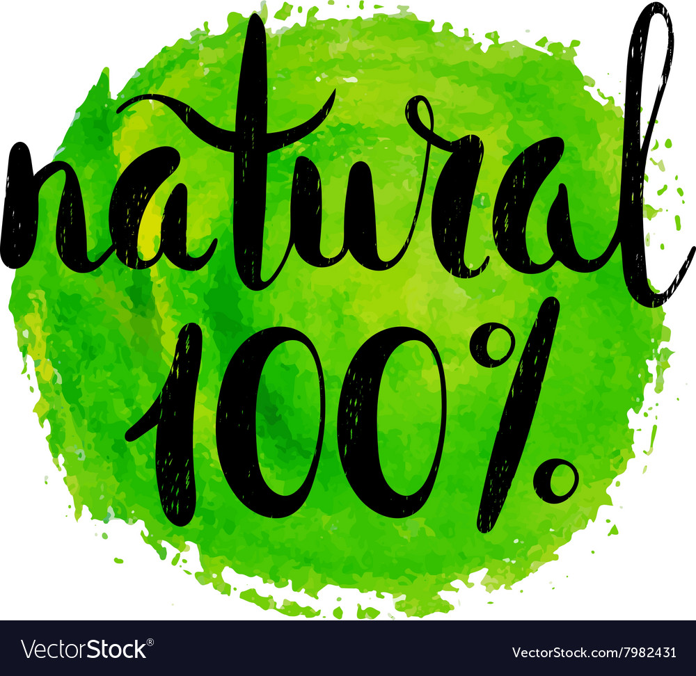 Natural product label vector