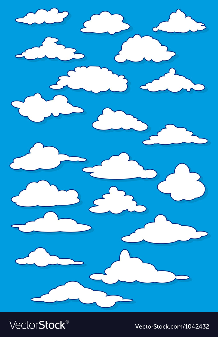 Fabulous clouds set vector