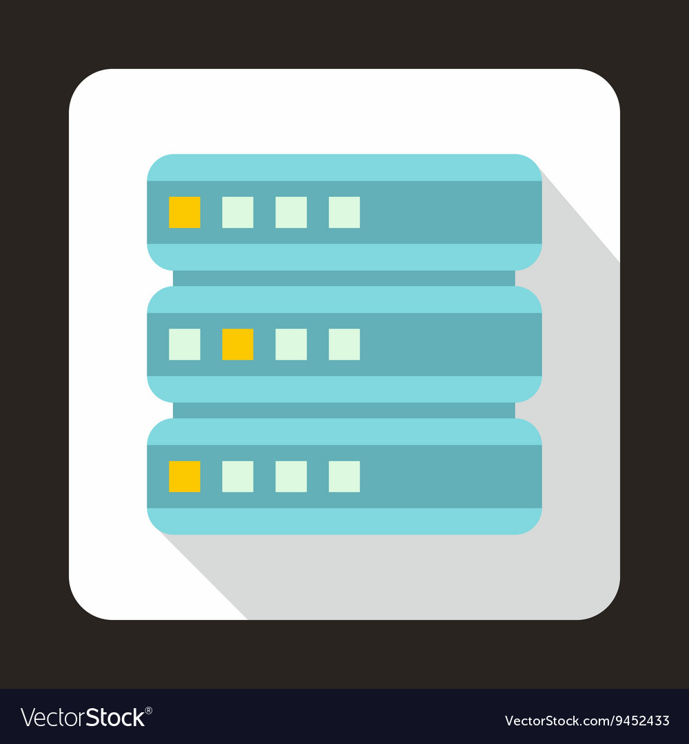 Database icon flat style vector