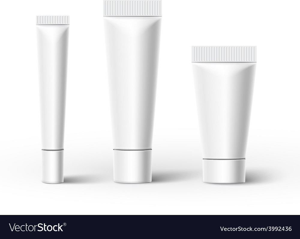 Plastic tubes vector