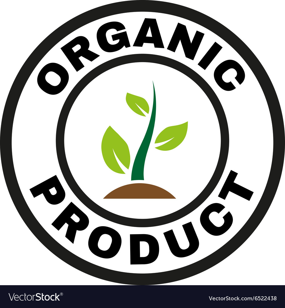 Organic product icon eco and bio ecology vector
