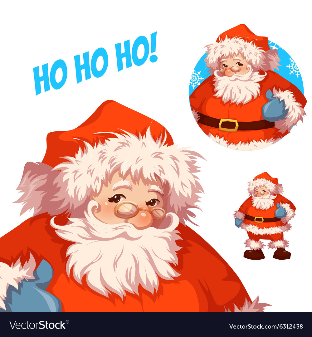 Santa claus merry christmas vector