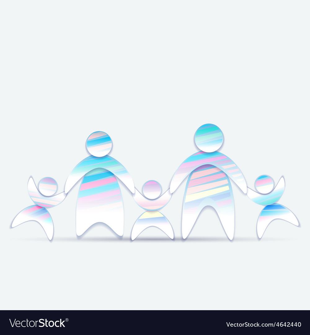 Abstract friendly family 2 vector