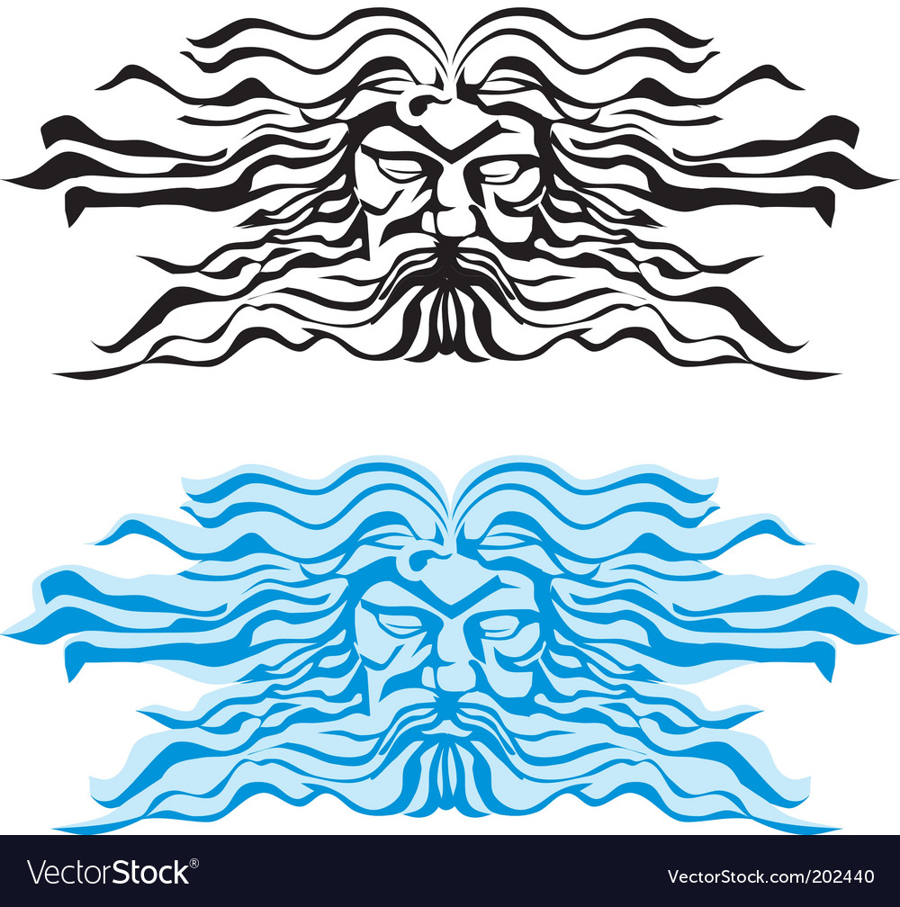 God of the seas vector