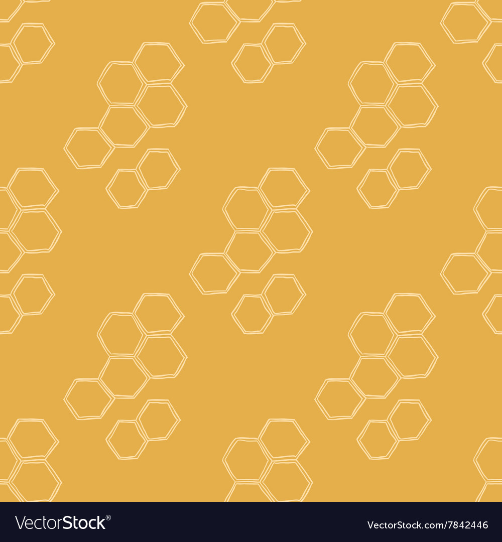 Honey meadows seamless pattern vector