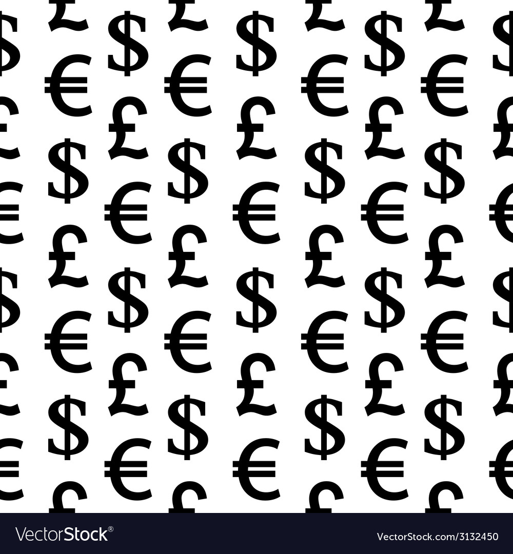 Currency symbols seamless pattern vector