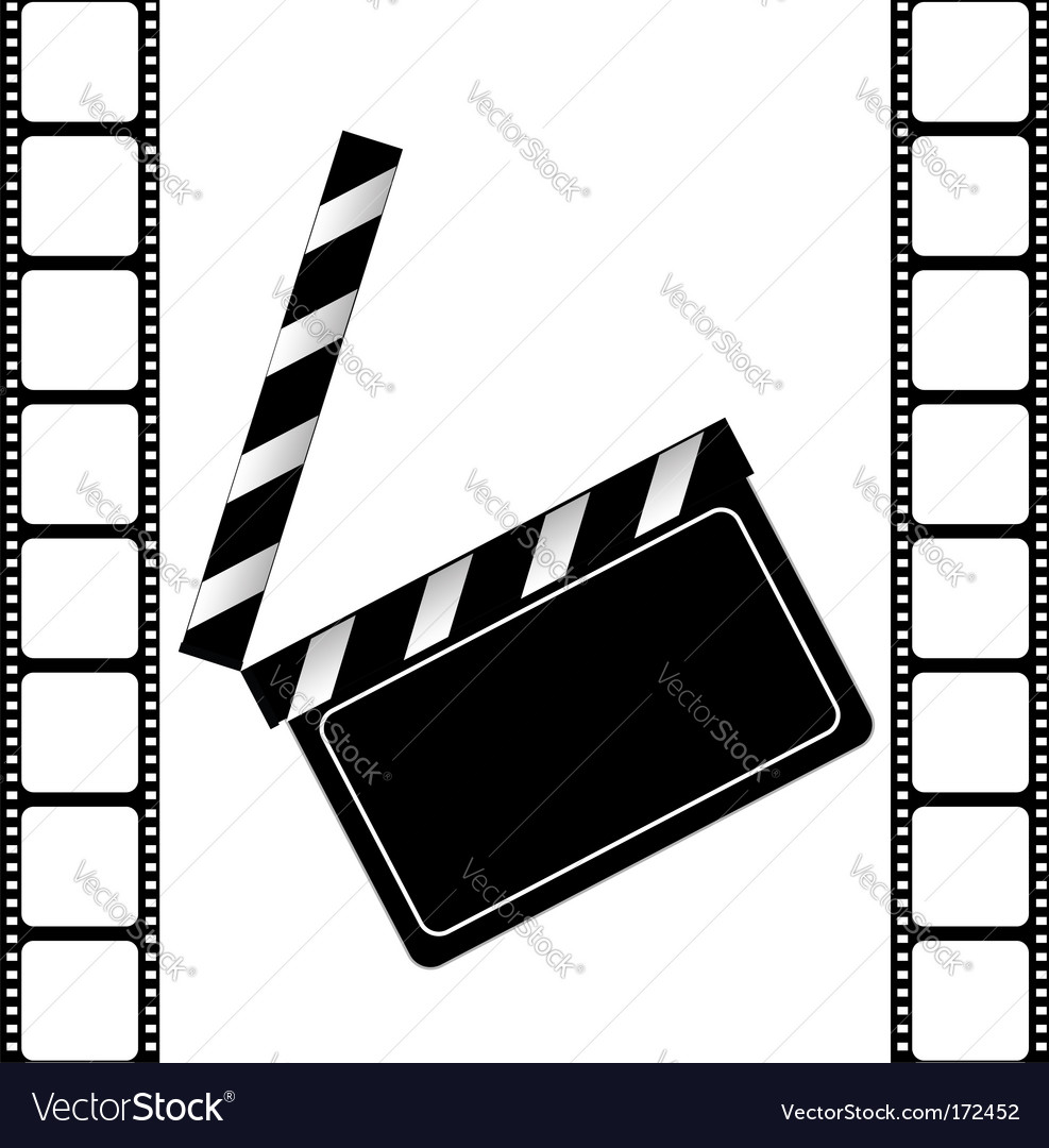 Clapper board and film frame vector